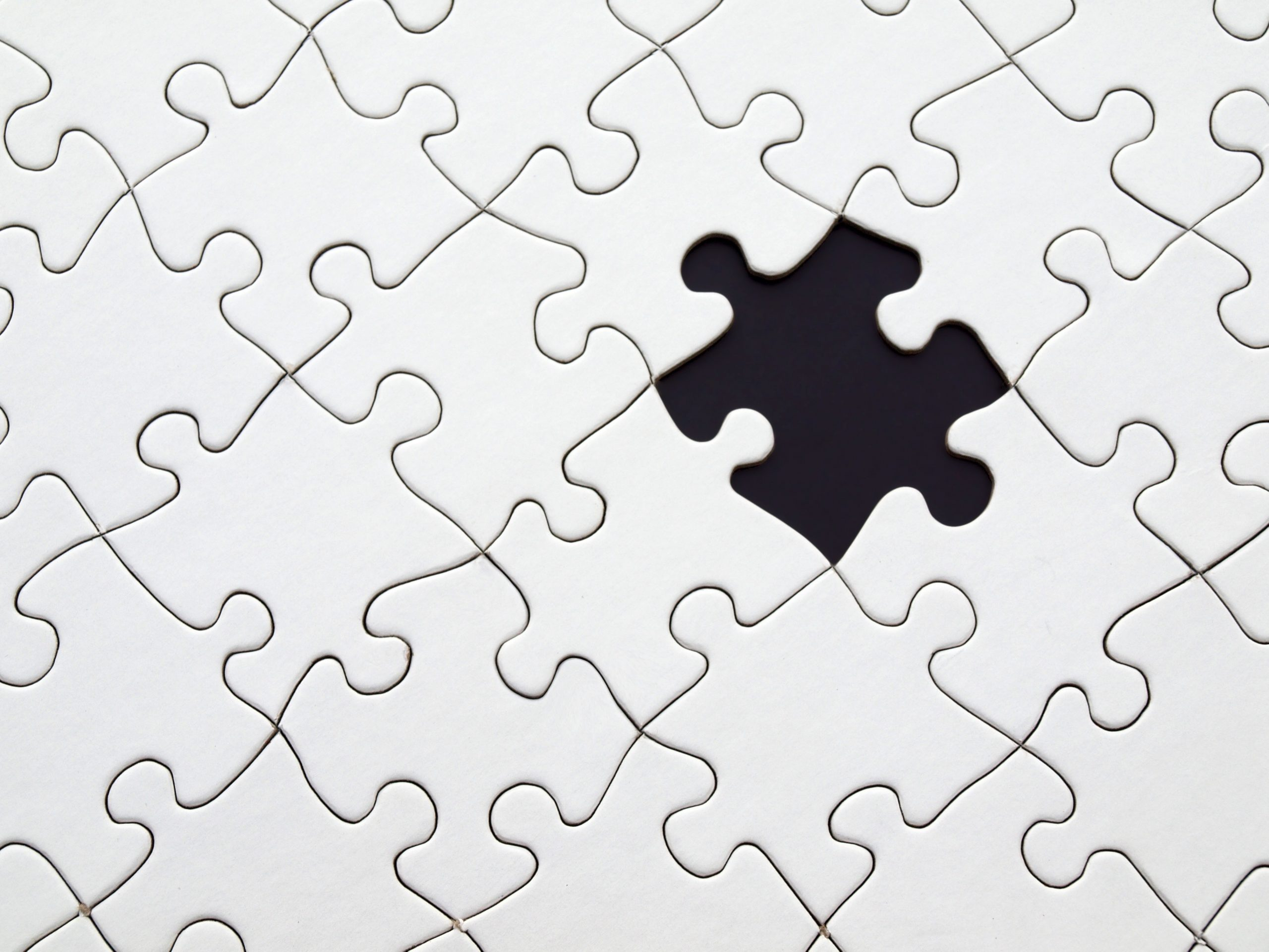 Puzzle with a missing piece