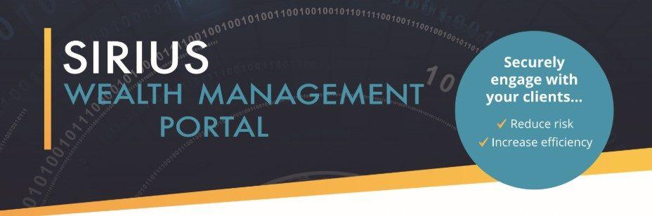 Sirius wealth management portal ad